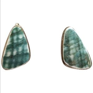 Jewelry - Sterling silver bezel set mother of pearl earrings